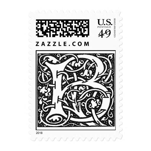 Letra 'B de William Morris Timbre Postal
