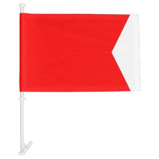 Letra B del bravo de la bandera de señal náutica