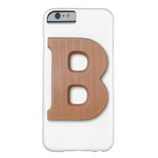 Letra b del chocolate funda para iPhone 6 barely there