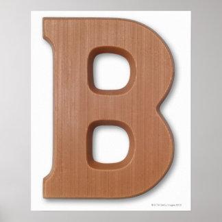 Letra b del chocolate impresiones