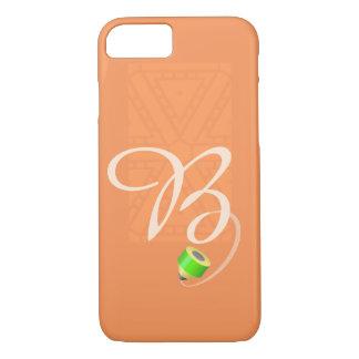 """Letra """"B"""" del creyón del monograma Funda iPhone 7"""