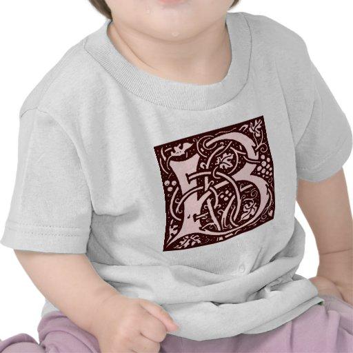 Letra B del monograma Camiseta