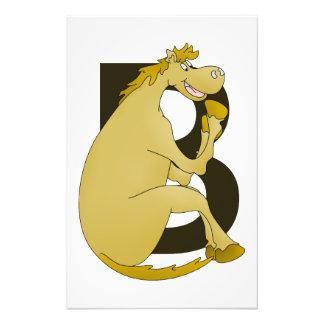 Letra B del monograma del caballo Fotografía