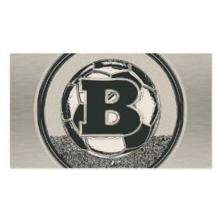 Letra B del monograma del fútbol del medallista de Tarjetas De Visita