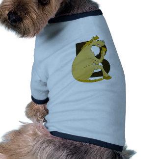 Letra B del monograma del potro Camiseta Con Mangas Para Perro