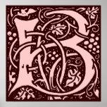 Letra B del monograma Posters