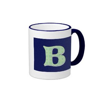 Letra B del monograma Tazas De Café