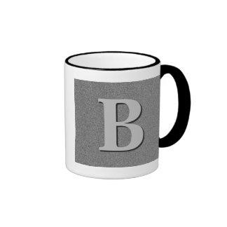 Letra B del monograma Taza De Café