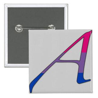 "Letra bisexual A del ""escarlata"" del orgullo Pin Cuadrada 5 Cm"