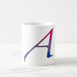 Letra bisexual A del escarlata del orgullo Taza De Café