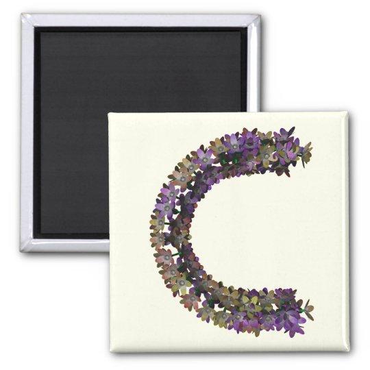 Letra C de la flor Imanes
