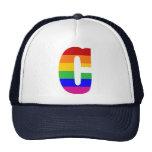 Letra C del arco iris Gorro De Camionero