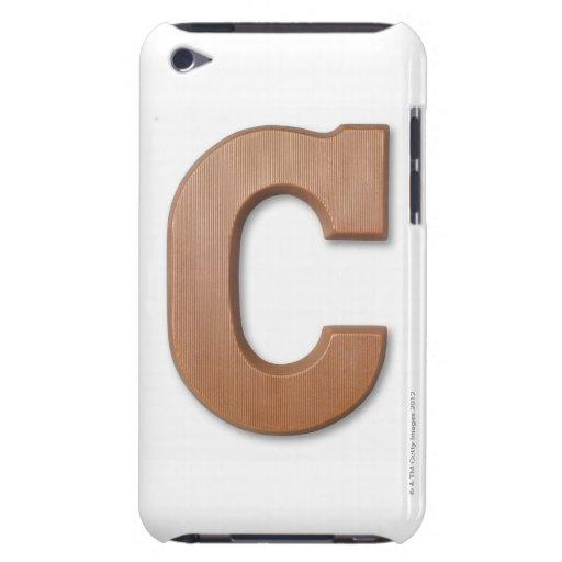Letra c del chocolate funda para iPod de Case-Mate