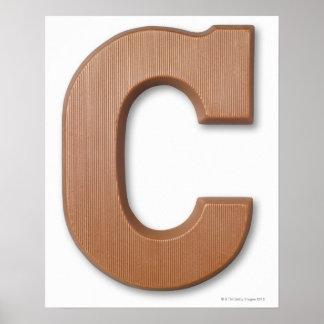 Letra c del chocolate poster