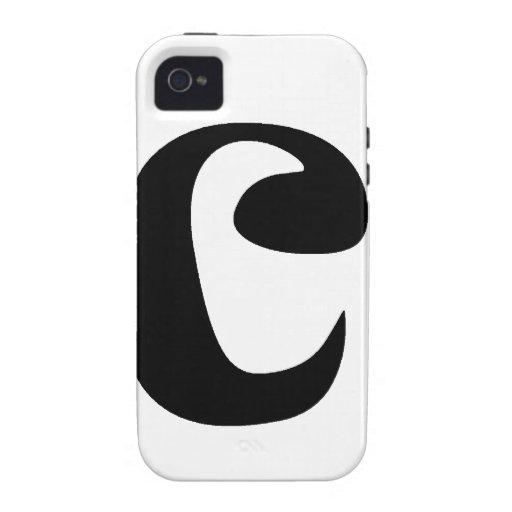 Letra C_large Case-Mate iPhone 4 Carcasas