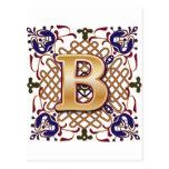 Letra céltica B del diseño Postal