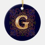 Letra céltica G del monograma Adorno De Navidad