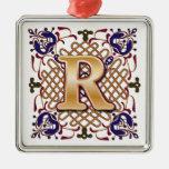 Letra céltica R del monograma Ornamentos De Reyes Magos