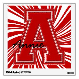 Letra colegial A de la etiqueta de la letra, roja
