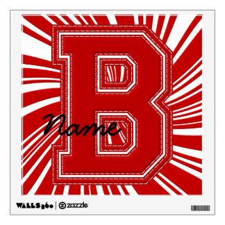 Letra colegial B de la etiqueta de la letra, roja