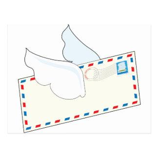 Letra con las alas postales