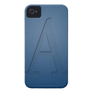 Letra con monograma A de la inserción Case-Mate iPhone 4 Fundas