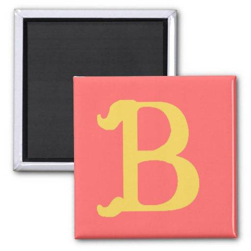 Letra con monograma B (cuadrado del imán represent