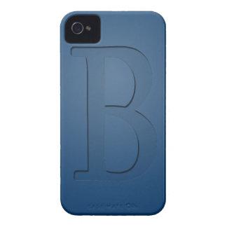 Letra con monograma B de la inserción Case-Mate iPhone 4 Fundas