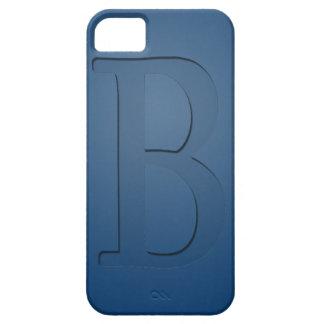 Letra con monograma B de la inserción iPhone 5 Fundas