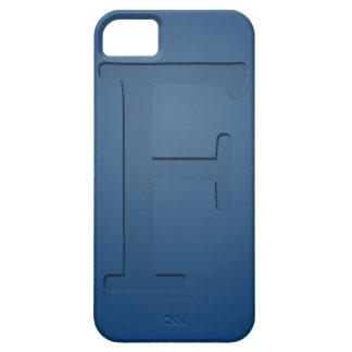 Letra con monograma F de la inserción iPhone 5 Carcasas