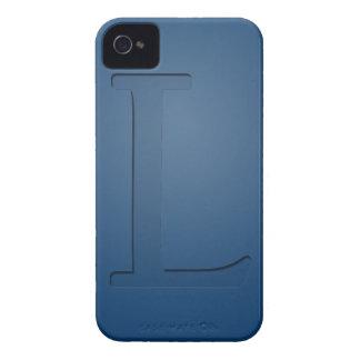 Letra con monograma L de la inserción iPhone 4 Case-Mate Protector