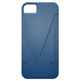 Letra con monograma M de la inserción iPhone 5 Carcasas