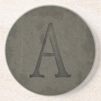 Letra concreta A del monograma Posavasos Manualidades