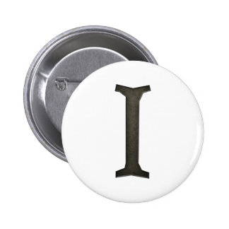 Letra concreta I del monograma Pin Redondo 5 Cm