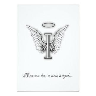 Letra conmemorativa I del tributo del monograma Anuncios