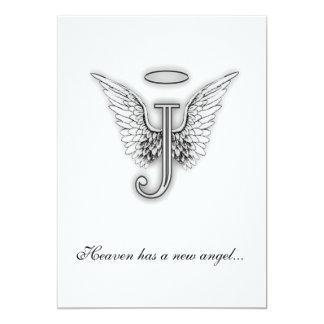 Letra conmemorativa J del tributo del monograma Invitación Personalizada