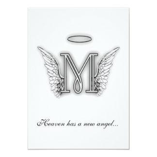 Letra conmemorativa M del tributo del monograma Anuncios