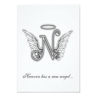 Letra conmemorativa N del tributo del monograma Invitaciones Personales