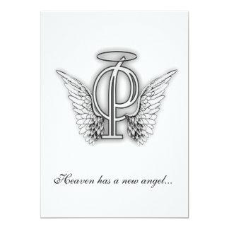 Letra conmemorativa P del tributo del monograma Anuncio