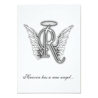 Letra conmemorativa R del tributo del monograma Invitación Personalizada