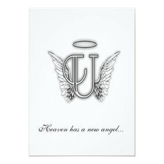 Letra conmemorativa U del tributo del monograma Comunicado
