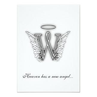 Letra conmemorativa W del tributo del monograma Comunicados Personalizados