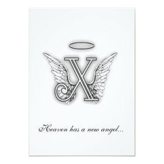 Letra conmemorativa X del tributo del monograma Invitacion Personal