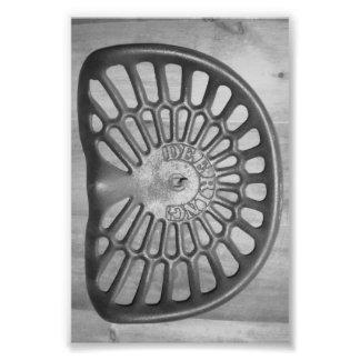 Letra D9 4x6 blanco y negro del alfabeto Fotografía