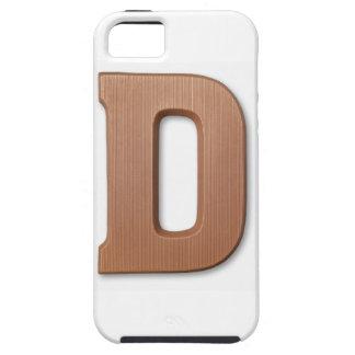 Letra d del chocolate iPhone 5 funda