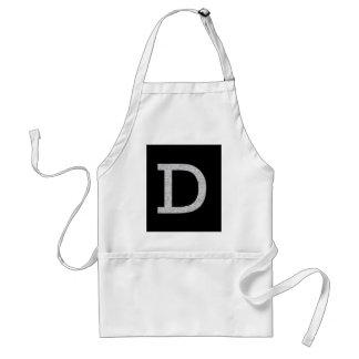 Letra D del monograma Delantal
