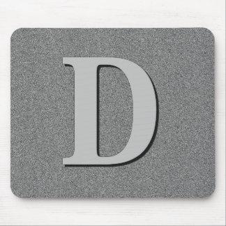 Letra D del monograma Alfombrilla De Raton