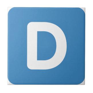 Letra D - gorjeo del emoji Azulejo Cuadrado Pequeño