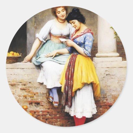 Letra de amor de Eugene de Blaas- The Etiqueta Redonda