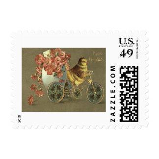 Letra de amor de la bici del crisantemo del huevo sellos